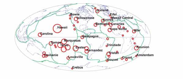 Глобальная карта горячих точек Земли