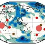 Устойчивое положение во времени и пространстве крупнейших мантийных горячих точек.