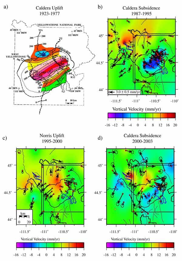 Деформация земной коры Йеллоустонского плато по данным сверхточного нивелирования и GPS наблюдений.