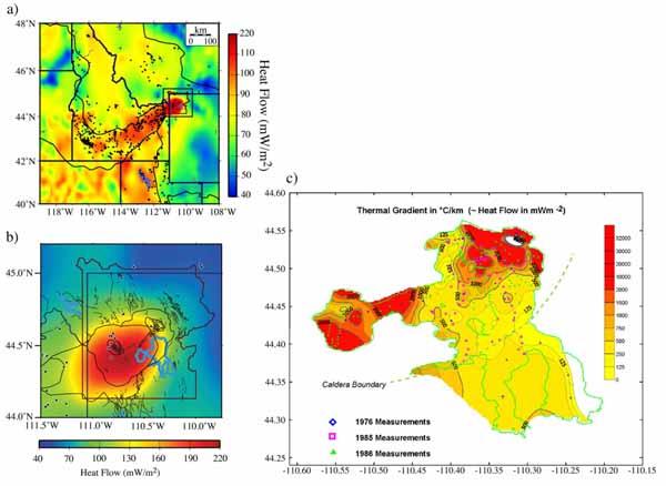 Тепловой поток для Йеллоустоуна и равнины Снейк-Ривер