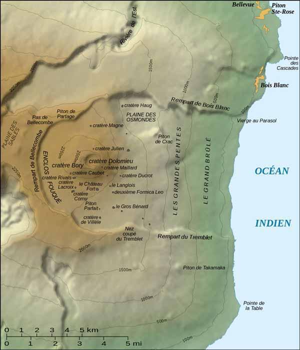 Топографическая карта Питон-де-ла-Фурнез